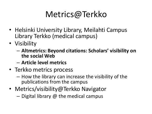 Terkko altmetrics process Slide 2