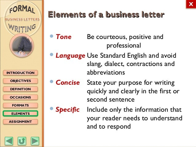 English m3 formal writing business letters feedback 12 objectives definition occasions formats elements assignment introduction spiritdancerdesigns Choice Image