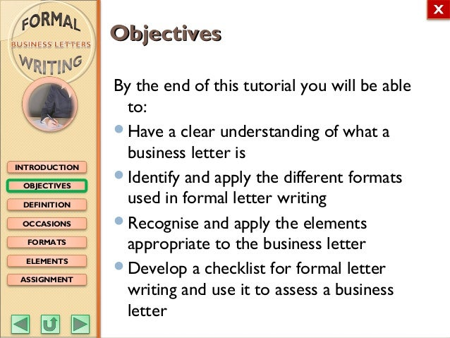 English m3 formal writing business letters objectives definition occasions formats elements assignment introduction business lettersbusiness letters formal writingformal writing 2 spiritdancerdesigns Choice Image