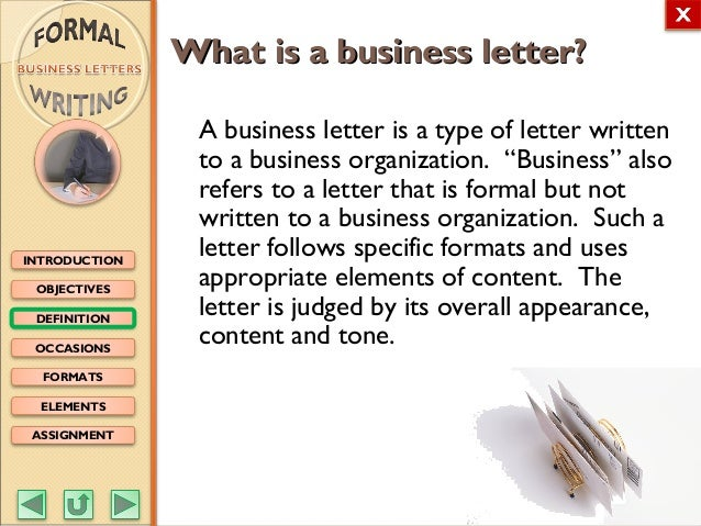 English M3 Formal Writing business letters