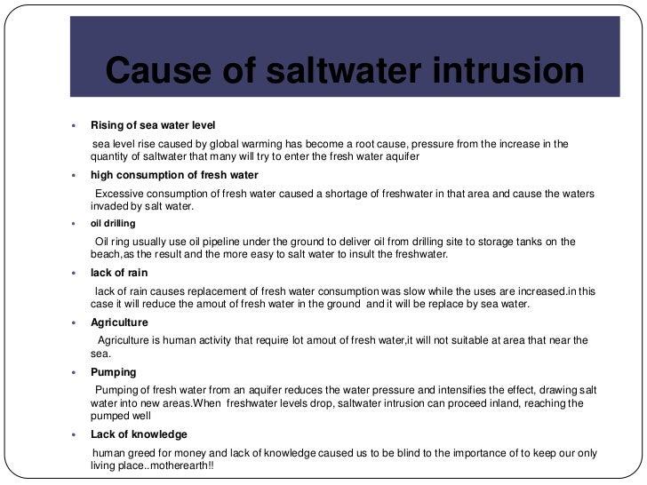 Saltwater intrusion