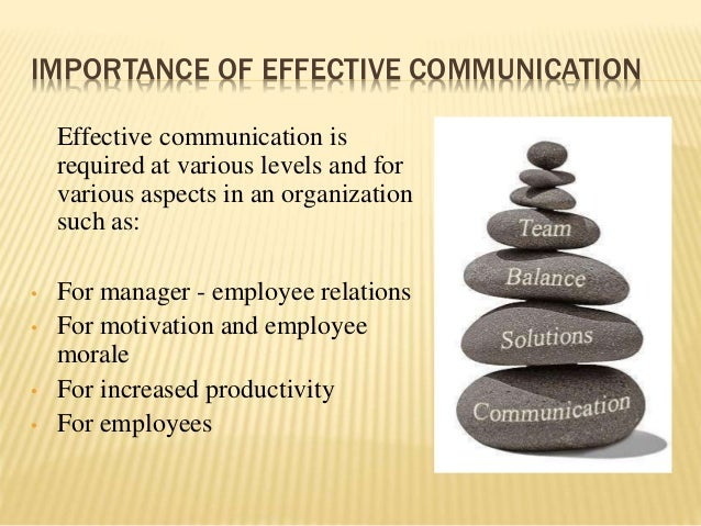 effective communication is important in an If companies want to improve their bottom lines, effective communication skills  training is a good place to start although communication skills.