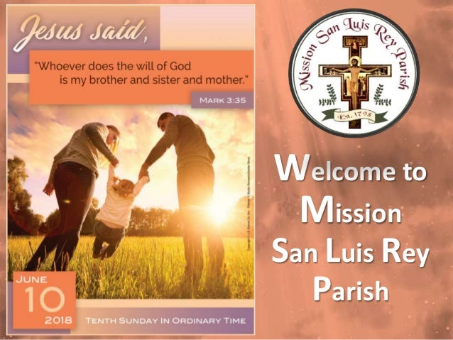 Welcome to Mission San Luis Rey Parish
