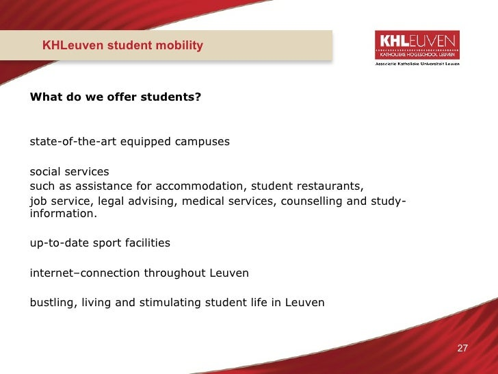 KHLeuven Leuven University College Presentation