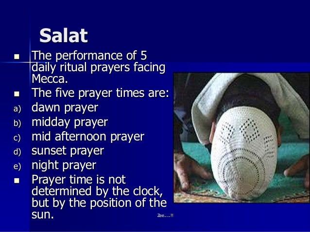 5 pillars of Islam...  Five