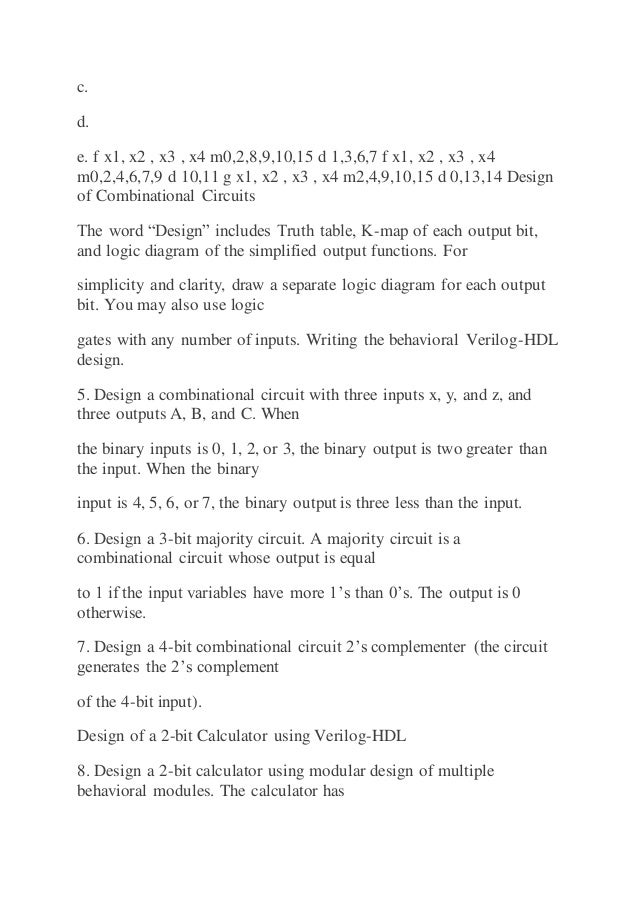 Engr 262 digital logic design homework 3 ccuart Choice Image