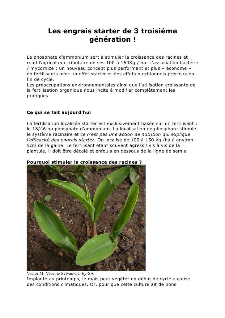 Les engrais starter de 3 troisième                   génération !Le phosphate d'ammonium sert à stimuler la croissance des...