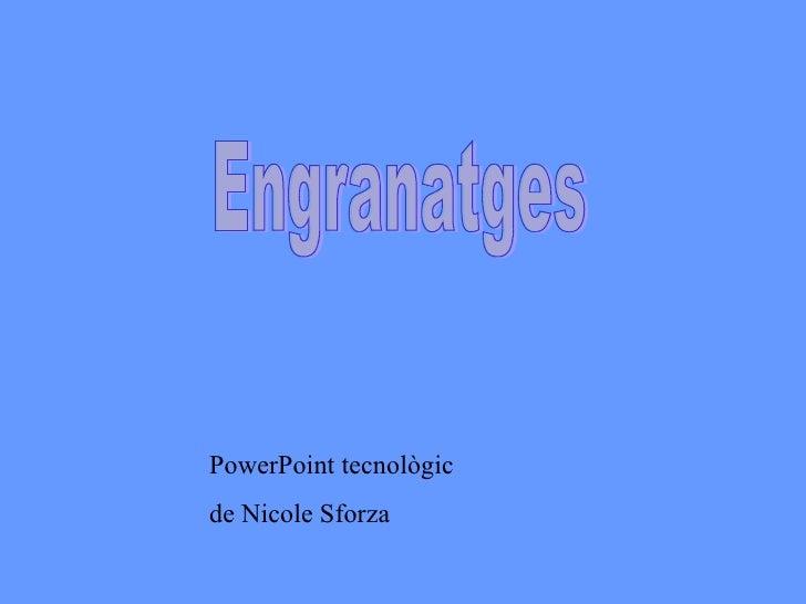 Engranatges PowerPoint tecnològic de Nicole Sforza