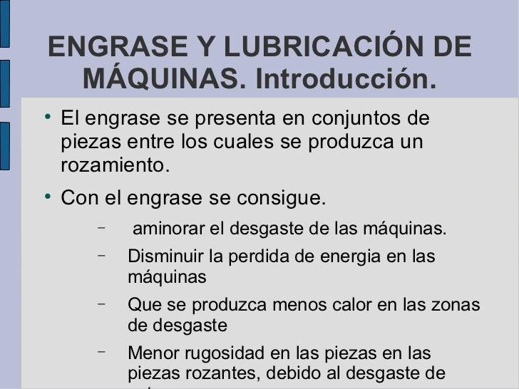 Sistema de lubricación de una máquina