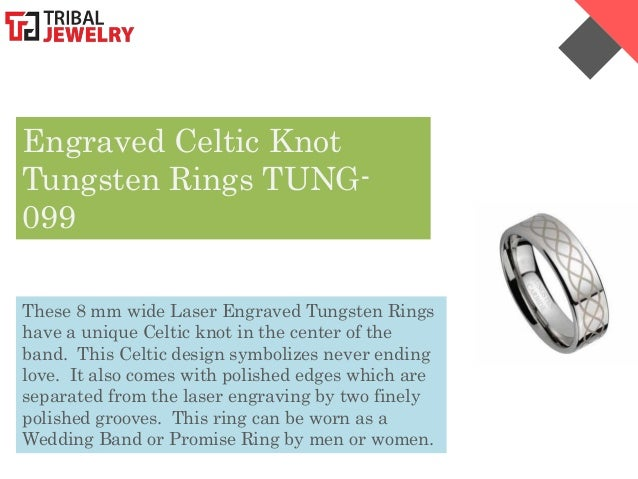 Tungsten Wedding Bands Celtic 41 Cute  Engraved Celtic Knot
