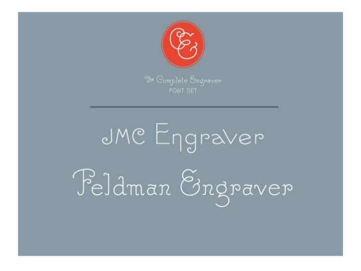 Engraver Font Set by Terrance Weinzierl