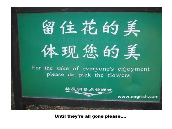 Until they're all gone please….
