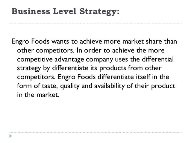 strategies of engro foods Through the strategic alliance, engro corporation will remain a significant shareholder and partner in engro foods the execution of this transaction, as approved by competition commission and other relevant authorities, is one of the single largest private sector foreign direct investment (fdi) in pakistan in recent years, amounting to a total.