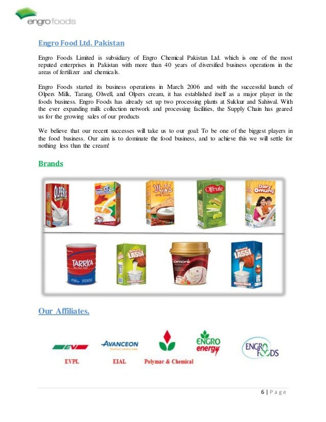 distribution of engro foods Engro foods has emerged as the biggest and fastest growing company of pakistan in past few years olper's milk, o'more ice cream and tarang tea whitener ar.