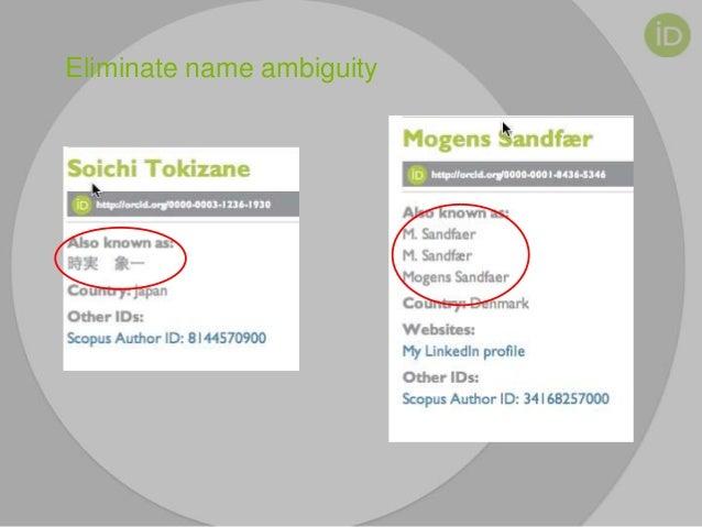 Eliminate name ambiguity