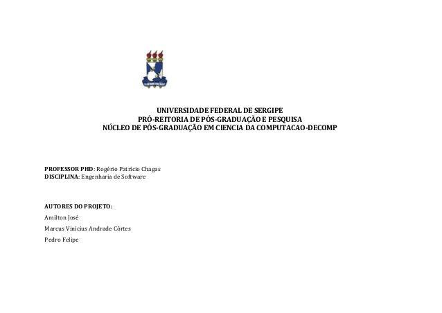 UNIVERSIDADE FEDERAL DE SERGIPE PRÓ-REITORIA DE PÓS-GRADUAÇÃO E PESQUISA NÚCLEO DE PÓS-GRADUAÇÃO EM CIENCIA DA COMPUTACAO-...