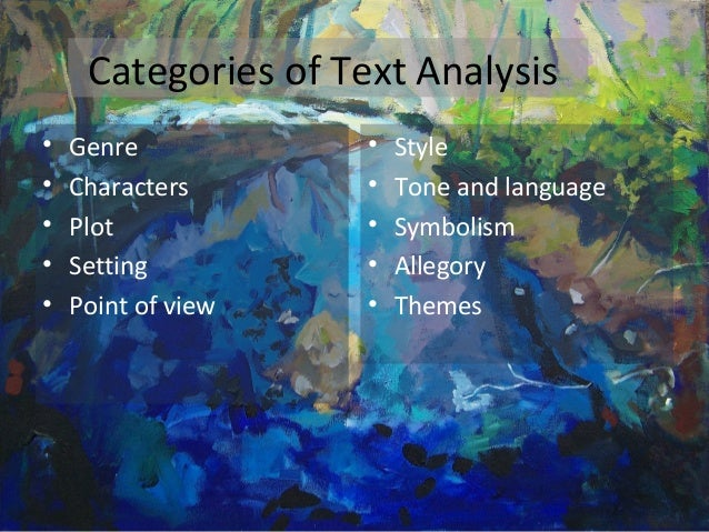 textual analysis and genres Follow the assignment closely a textual analysis, like any other writing, has to have a specific audience and purpose, and you must carefully write it to serve that audience and fulfill that specific purpose.