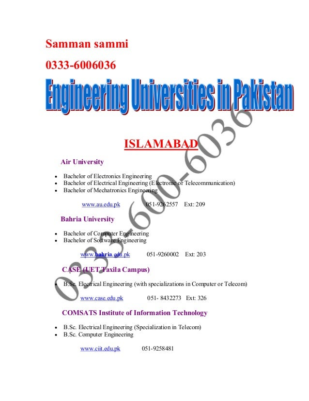Samman sammi0333-6006036ISLAMABADAir University Bachelor of Electronics Engineering Bachelor of Electrical Engineering (...
