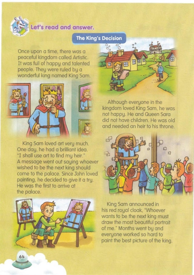 """(Adapted from TheKing's Decision) King Sam came to John and saw him holding a mirror. John said, """"1 was sure 1could draw t..."""