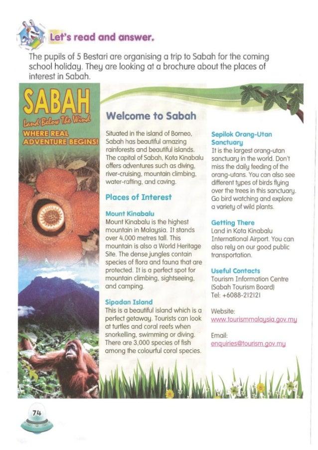 2.2.2(b), 2.2.4(b) 75 Create a slogan for Sarawak. Share it with your friends. ! Sipadan Island Sepilok Orang-Utan Sanctua...