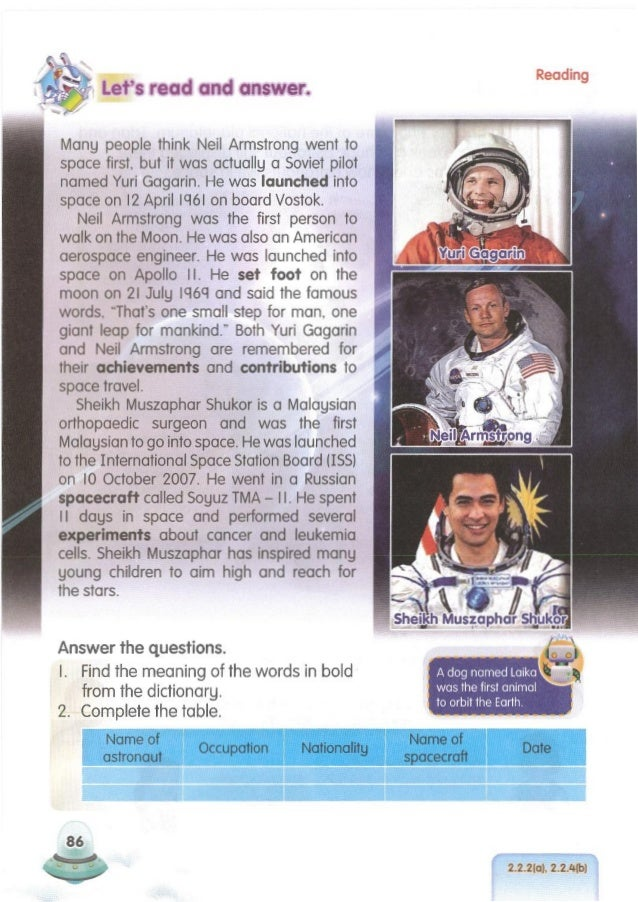 ( 2.2.2(b), 2.3.1 (b) ~ 87 Fill in the blanks with suitable answers. The International Space Station (ISS)is a place where...