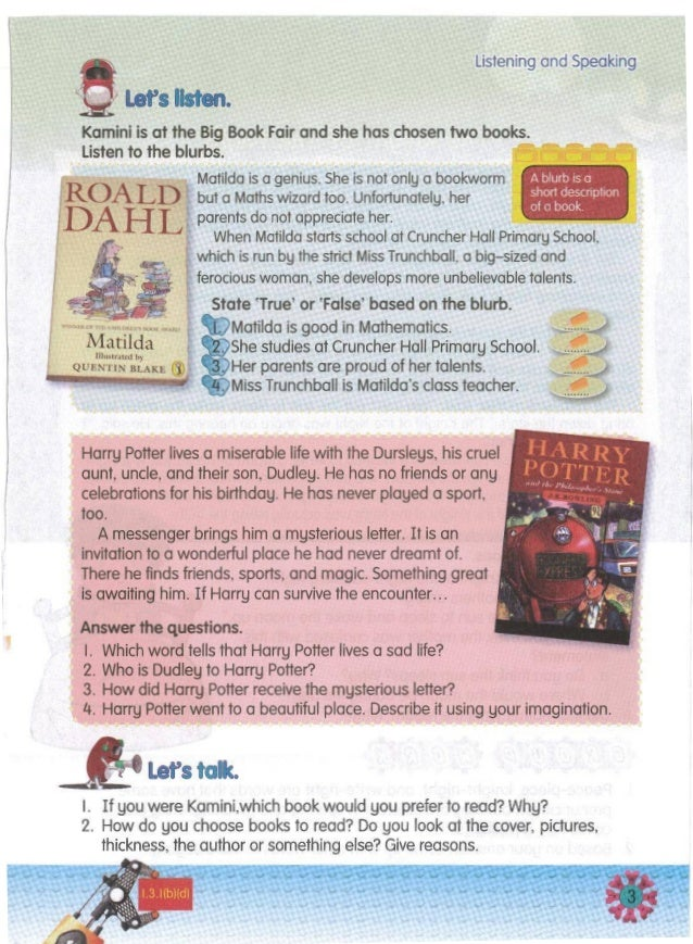 ~Let's talc. I. If you were Kamini,which book would you prefer to read? Why? 2. How do you choose books to read? Do you lo...
