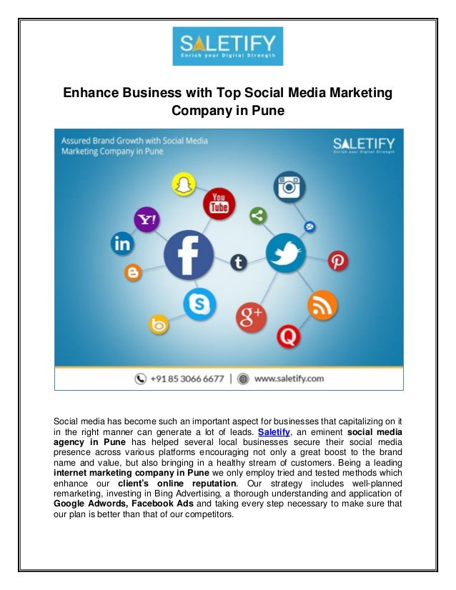 Enhance Business with Top Social Media Marketing Company in Pune Social media has become such an important aspect for busi...