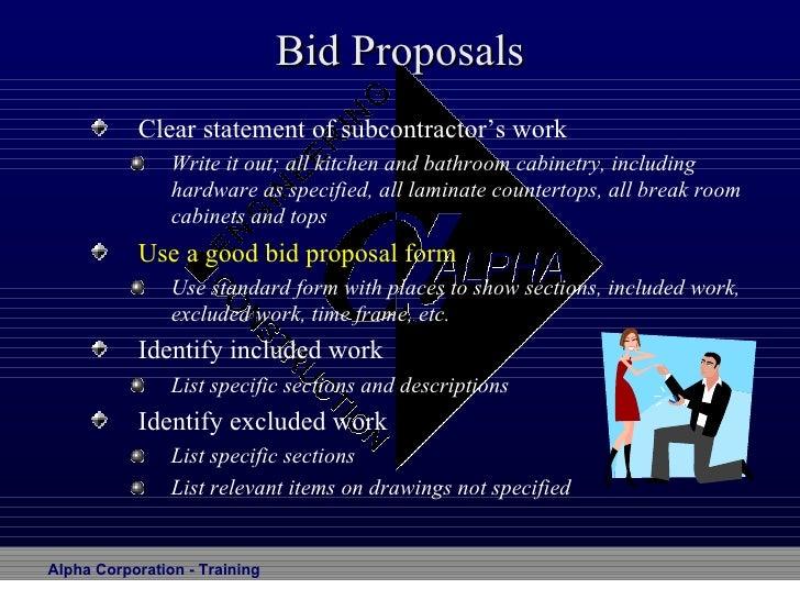 bid proposals