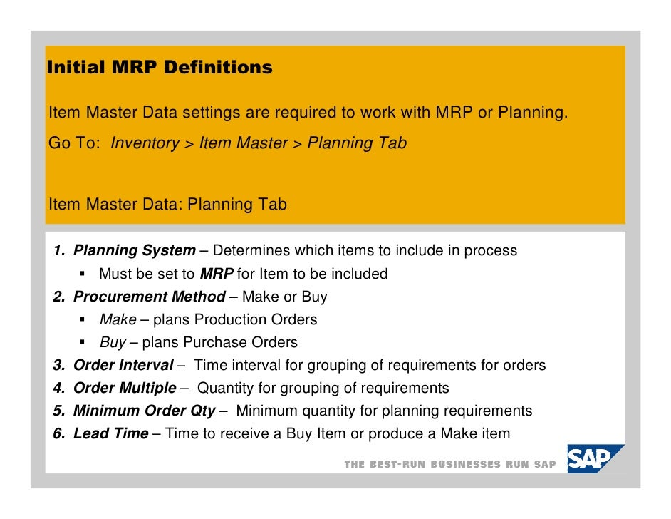 materials planning with sap pdf
