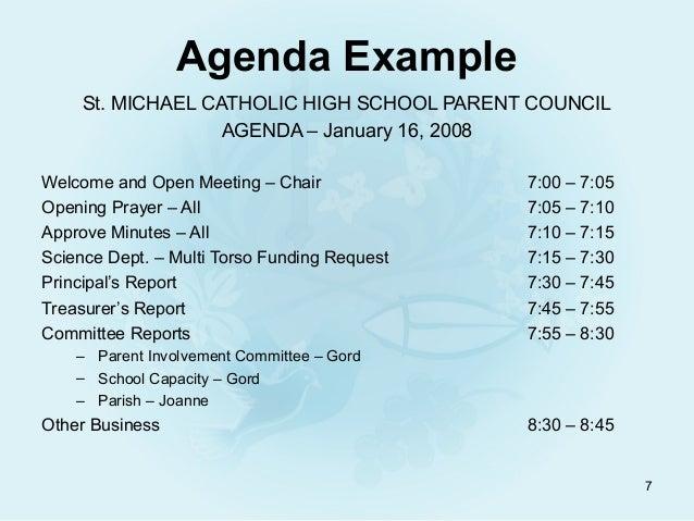 meet agenda