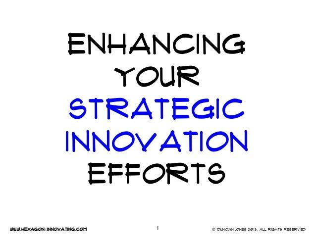 www.Hexagon-INNovating.com © Duncan.Jones 2013, All rights reservedENHANCINGYOURStrategicInnovationEFFORTS1