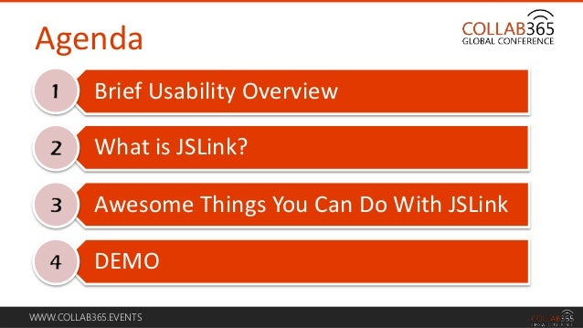 Enhance the Usability of Your SharePoint Site with JSLink #Collab365 #C365114 by @SharePointWendy Slide 3