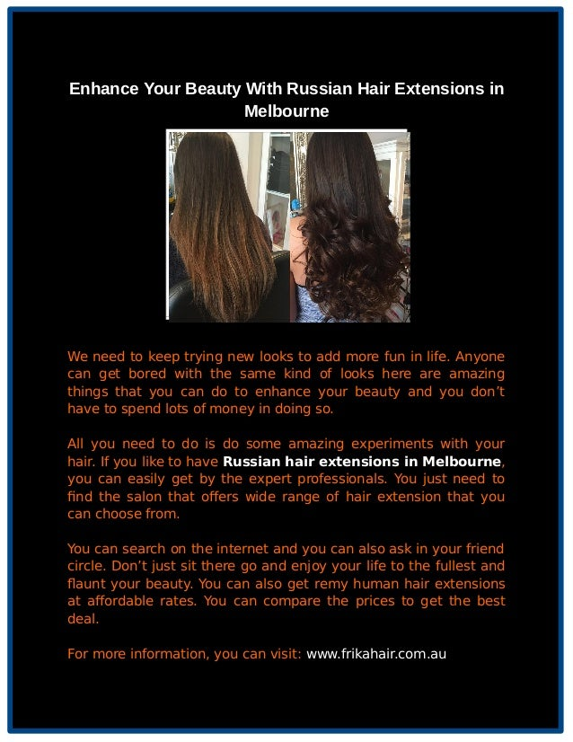 Enhance Your Beauty With Russian Hair Extensions In Melbourne