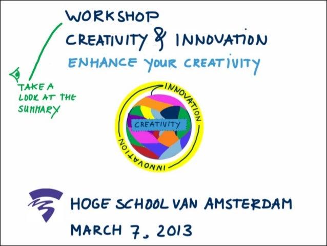 Creativity & Innovation: Enhance Your Creativity