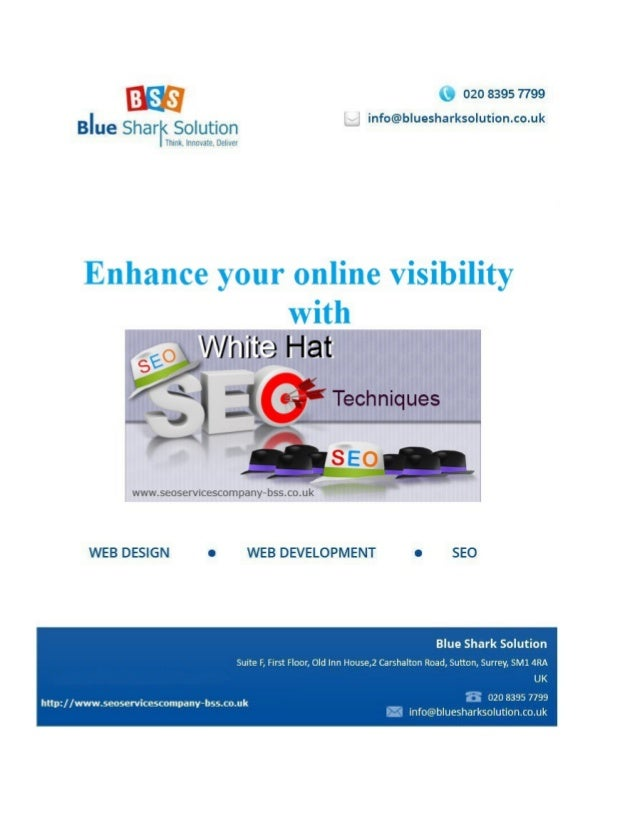 Enhance your online visibility with White hat SEO techniques: White hat SEO technique is very important in today's competi...