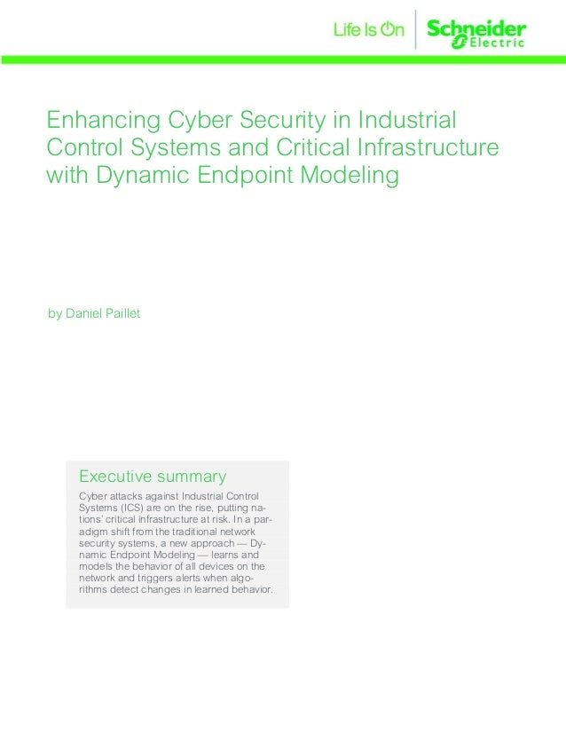 Enhancing Cyber Security in Industrial Control Systems and Critical Infrastructure with Dynamic Endpoint Modeling Executiv...