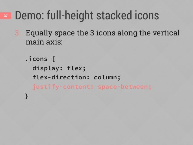 Demo: full-height stacked icons38