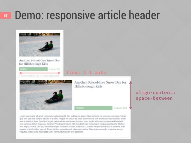 Improved wrapping66 With float or text-align With flex or justify-content
