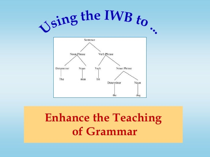 Using the IWB to ...<br />Enhance the Teaching of Grammar<br />
