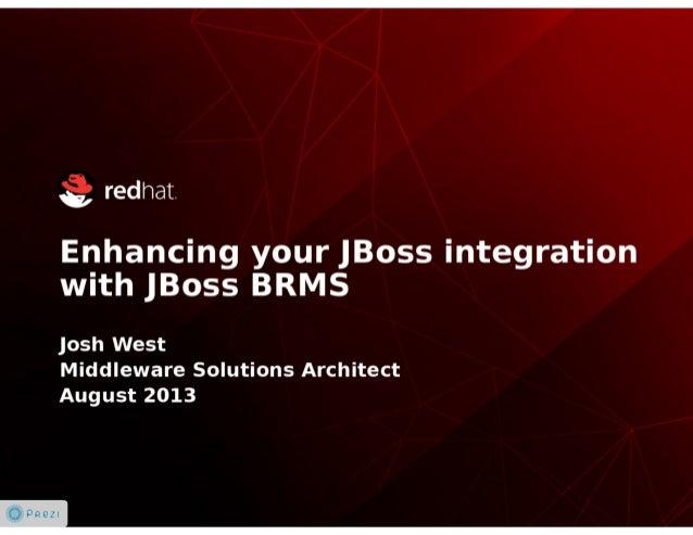 Enhancing your JBoss Integration with JBoss BRMS