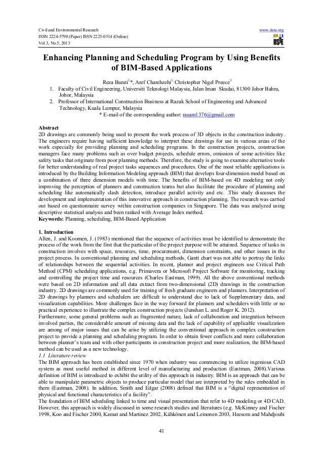 Civil and Environmental Research www.iiste.orgISSN 2224-5790 (Paper) ISSN 2225-0514 (Online)Vol.3, No.5, 201341Enhancing P...