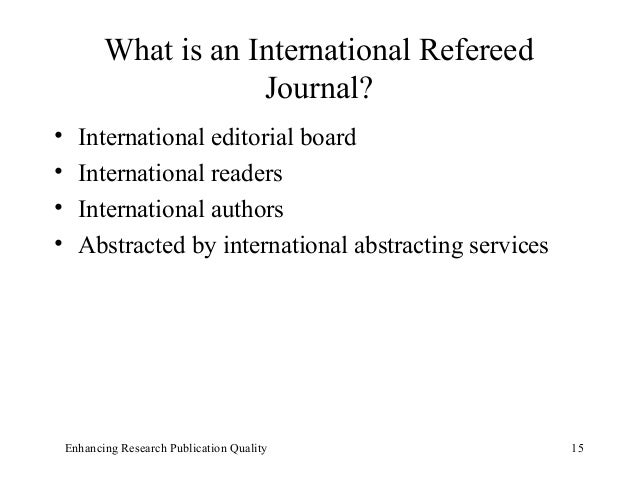 what is a refereed research paper Refereed papers describe new techniques, tools, theory, or inventions, or present case histories that extend our understanding of system and network administration they present new ideas, backed by repeatable methodology, in the context of previous related work, and can have a broad impact on operations and future research.