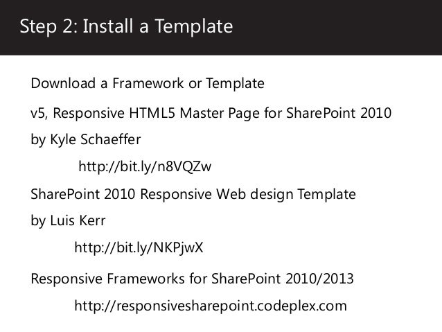 Enhancing sharepoint with responsive web design for Sharepoint responsive template