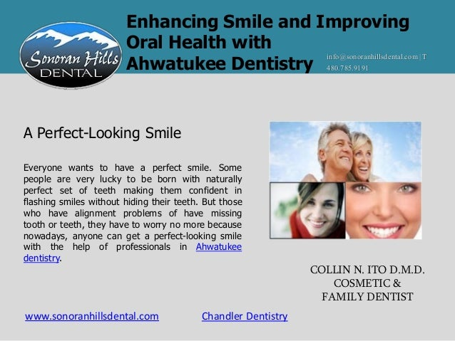 Enhancing Smile and Improving                        Oral Health with                                             info@son...