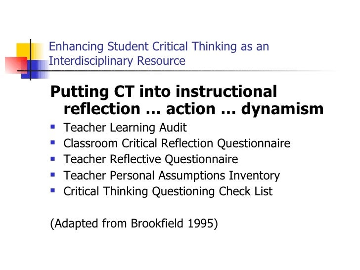 critical thinking application paper 2009
