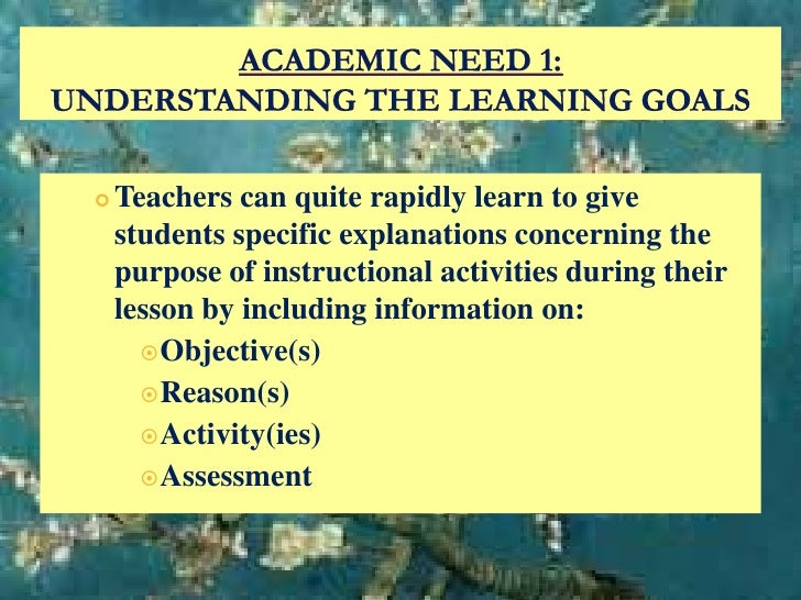 motivation to learn This paper discusses the five theories eric anderman and lynley hicks anderman (2010) argue are key for educators to understand motivation: 1) self.