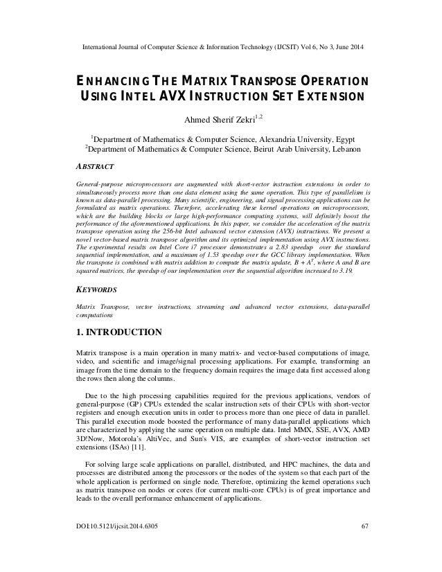 International Journal of Computer Science & Information Technology (IJCSIT) Vol 6, No 3, June 2014 DOI:10.5121/ijcsit.2014...