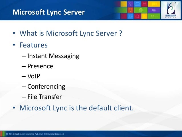 Lync Instant Message : Enhancing unified communication experience through