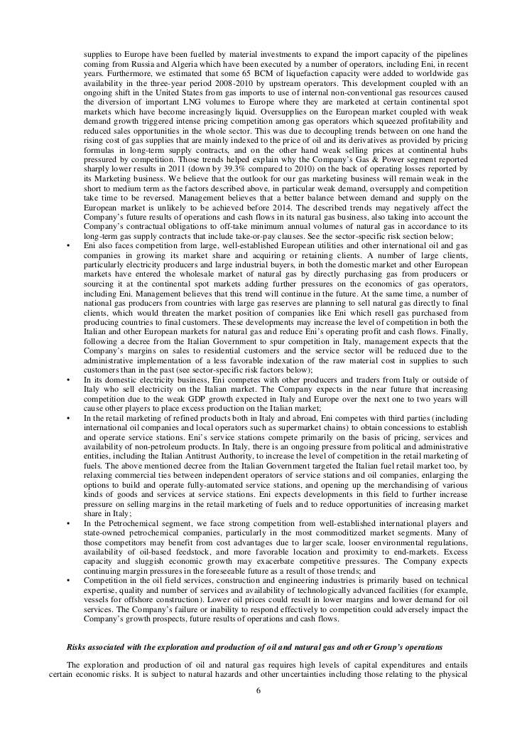 Eni 2011 Annual Report on form 20-F