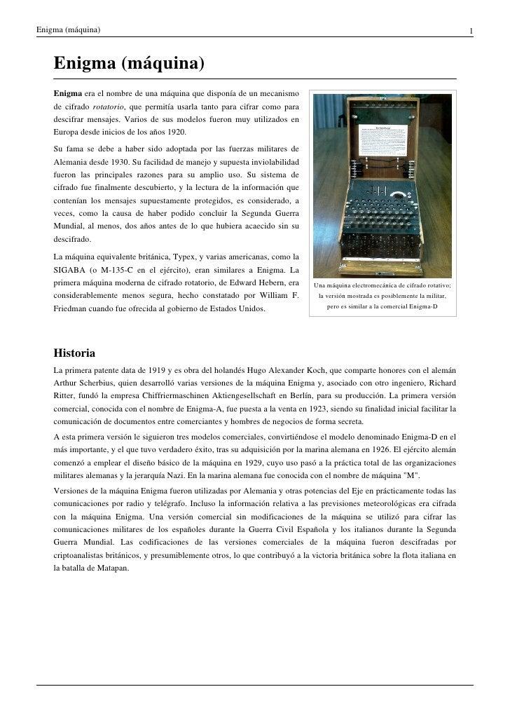 Enigma (máquina)                                                                                                          ...